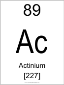89 Ac Chemical Element Poster Template - Actinium