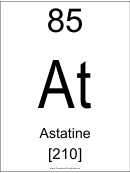 85 At Chemical Element Poster Template - Astatine