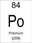 84 Po Chemical Element Poster Template - Polonium