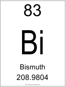 83 Bi Chemical Element Poster Template - Bismuth