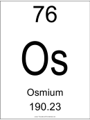 76 Os Chemical Element Poster Template - Osmium
