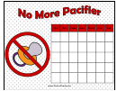 No More Pacifier Toddler Behavior Chart