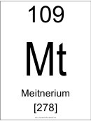109 Mt Chemical Element Poster Template - Meitnerium