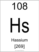 108 Hs Chemical Element Poster Template - Hassium