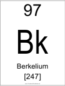 97 Bk Chemical Element Poster Template - Berkelium