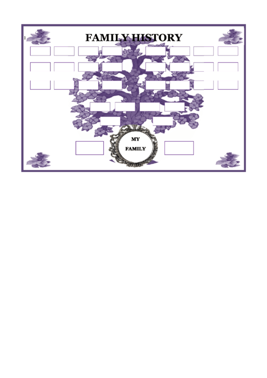Family History Tree Template Printable pdf