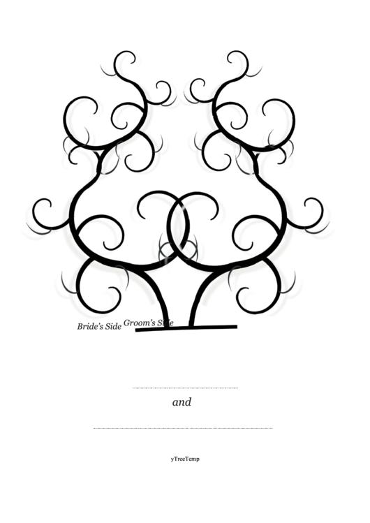Bride And Groom Thumbprint Tree Template Printable Pdf Download