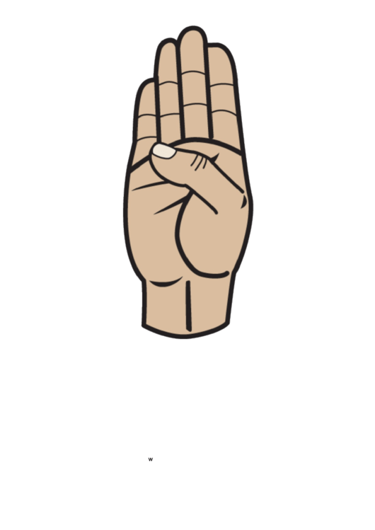 Letter B Sign Language Template - Filled
