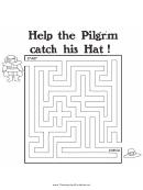 Pilgrim Hat Thanksgiving Maze Template