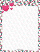 Flowers And Hearts Border