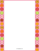 Flower Prints With Hearts Border