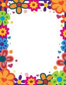 Bright Flowers Border