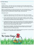 Easter Bunny Letter Template - Egg Hunt Rules