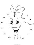 Happy Apple Dot-to-dot Sheet