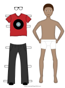 Paper Boy With Clothes Template