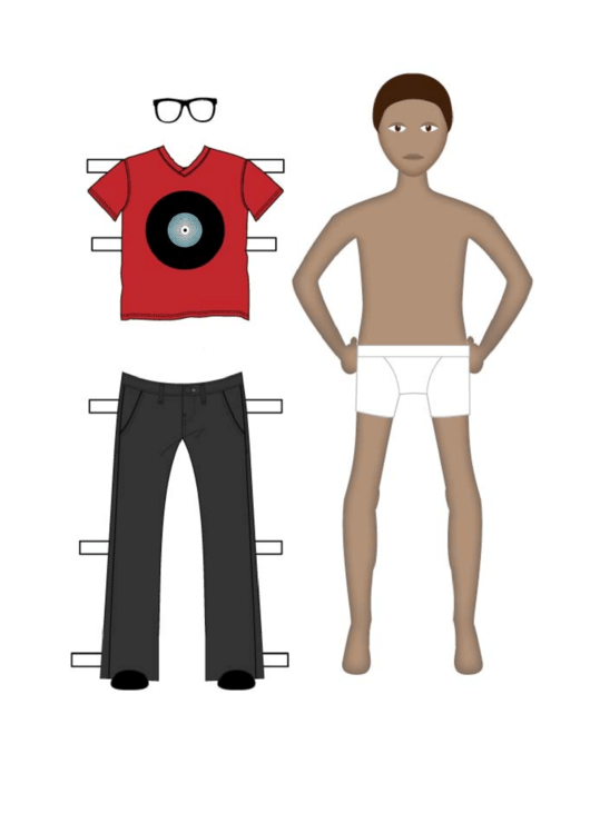 Paper Boy With Clothes Template Printable pdf
