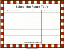 School Bus Route Tally Chart