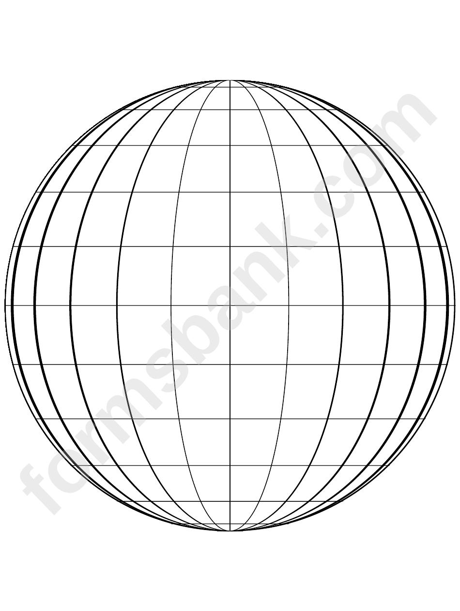 Globe Template printable pdf download