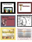 Religious Bookplates Jesus Assorted