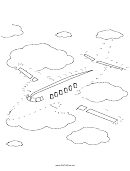 Airplane Dot-to-dot Sheet
