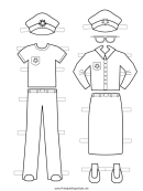 Policewoman Paper Doll Outfits To Color