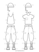 Paper Doll Uniforms To Color