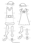 Christmas Paper Doll Template