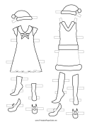 Christmas Paper Doll Outfit Template