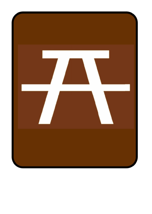 Picnic Table Sign Template