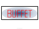 Buffet Sign Template
