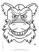 Dragon Chinese Outline Mask Template