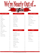 Office Stationery Inventory Template