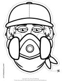 Graffiti Artist Female Outline Mask Template