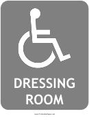 Handicap Dressing Room Sign Template
