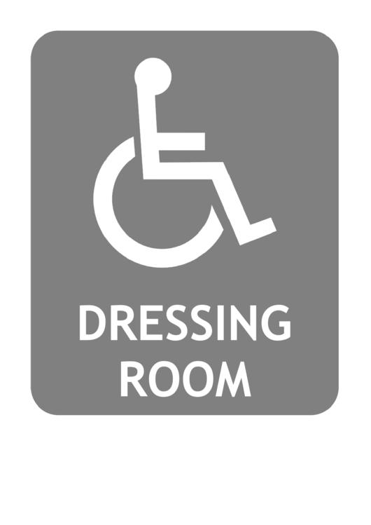 Handicap Dressing Room Sign Template Printable pdf