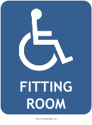 Handicapped Fitting Room Sign Template