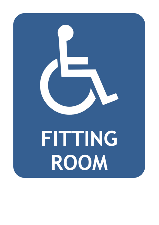 Handicapped Fitting Room Sign Template Printable pdf