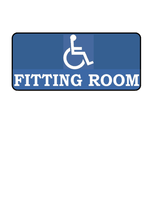 Disabled Fitting Room Sign Template Printable pdf