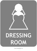 Bridal Dressing Room Sign Template