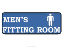 Men Fitting Room Sign Template