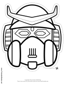 Robot Horns Outline Mask Template