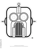 Robot Outline Mask Template