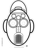 Robot Tall Oval Outline Mask Template