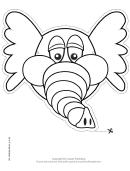 Elephant Mask Outline Template