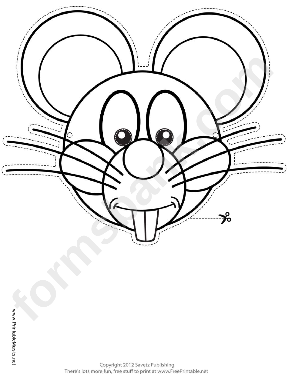 Mouse Mask Outline Template Printable Pdf Download