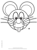 Mouse Mask Outline Template