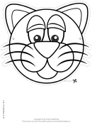 Cat Mask Outline Template
