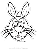 Bunny Mask Outline Template
