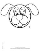 Dog Mask Outline Template