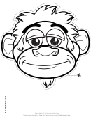 Monkey Mask Outline Template